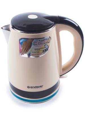 Чайник электрический KR-240S Endever. Цвет: черный, бежевый