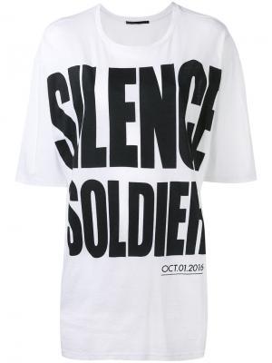 Silence Soldier print T-shirt Haider Ackermann. Цвет: белый