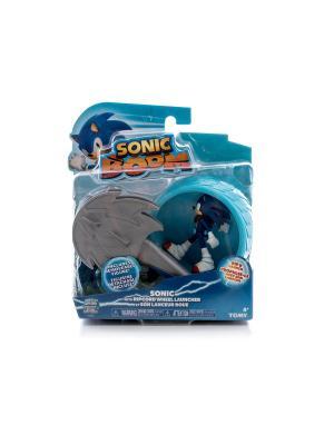 Игрушка Sonic пусковое устройство с фигуркой 7,5 см, Соник Boom. Цвет: синий