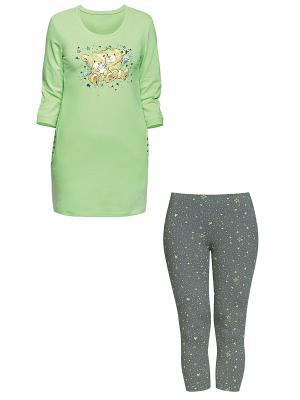 Пижама PELICAN. Цвет: светло-зеленый