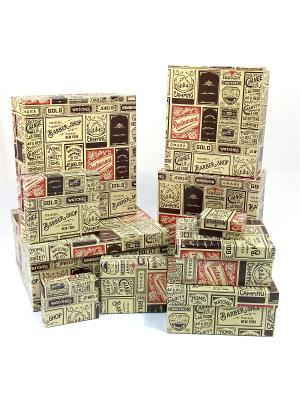 Коробка картонная, набор из 10 ЭТИКЕТКИ VELD-CO. Цвет: коричневый