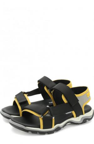 Текстильные сандалии с застежками велькро Dsquared2. Цвет: желтый