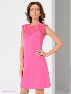 Платье Leo Guy. Цвет: розовый