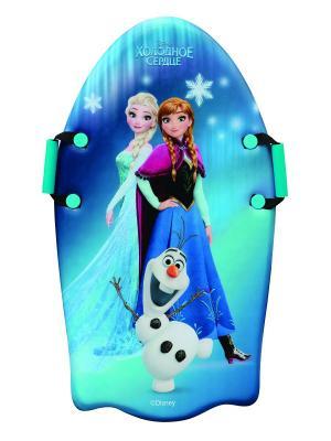 Ледянка Disney Холодное сердце 92см, с плотн.ручками 1Toy. Цвет: синий, зеленый
