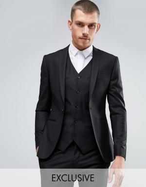 Noak Супероблегающий пиджак. Цвет: черный