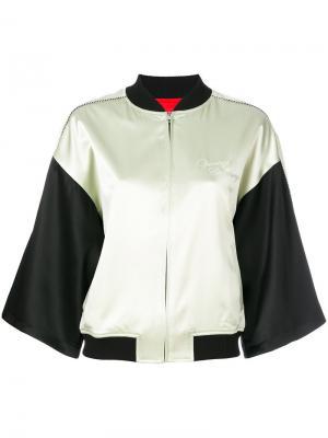 Куртка бомбер с контрастными вставками Opening Ceremony. Цвет: чёрный