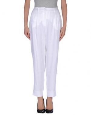 Повседневные брюки FISICO-CRISTINA FERRARI. Цвет: белый