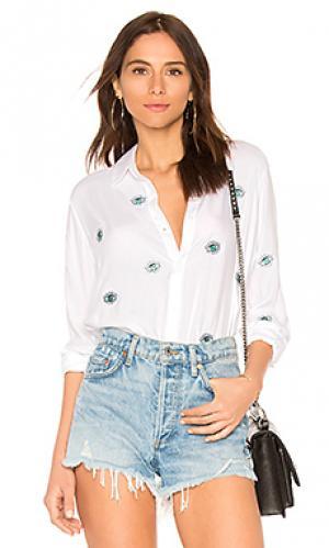 Рубашка с застёжкой на пуговицах paula Lauren Moshi. Цвет: белый