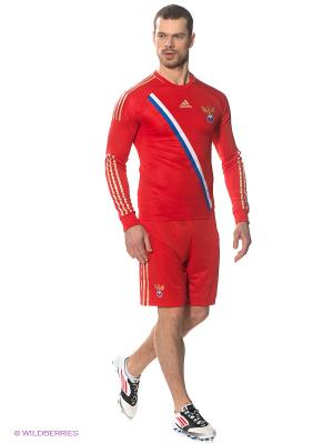 Шорты Adidas. Цвет: красный, бежевый