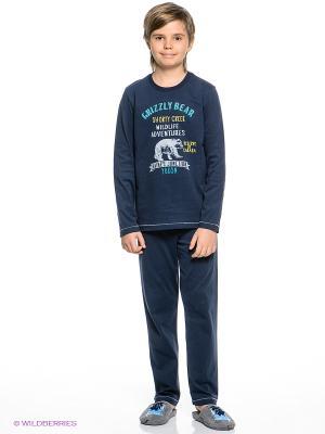 Пижама Sanetta. Цвет: темно-синий