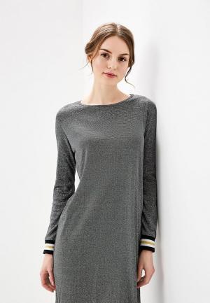 Платье Bluoltre. Цвет: серебряный