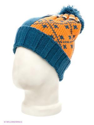 Шапка Maxval. Цвет: синий, оранжевый