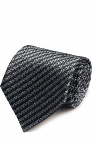 Шелковый галстук с узором Ermenegildo Zegna. Цвет: голубой