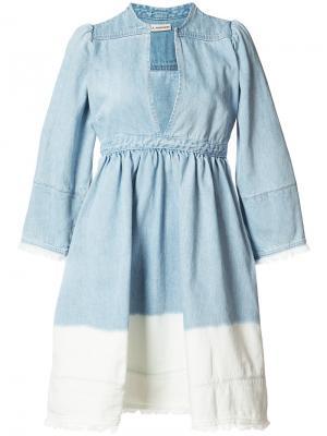 Платье с V-образным вырезом Alina Ulla Johnson. Цвет: синий