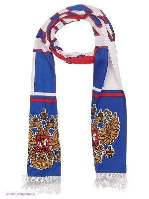 Шарф Atributika & Club. Цвет: синий, красный, белый