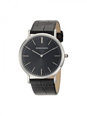 Часы TL0387CM Romanson. Цвет: черный, серебристый