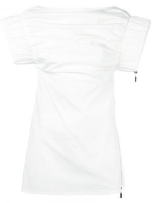 Блузка с широкими рукавами Maticevski. Цвет: телесный