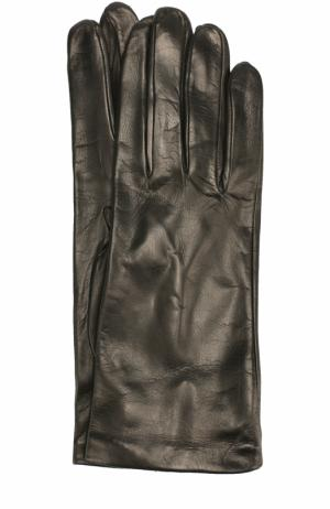 Кожаные перчатки Sermoneta Gloves. Цвет: черный
