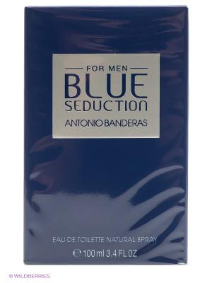 Antonio Banderas Blue Seduction Man М Товар Вода туалетная 100 мл. Цвет: белый, синий