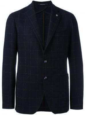 Блейзер с накладными карманами Tagliatore. Цвет: синий