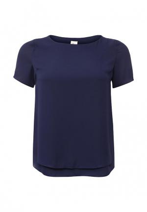 Блуза Just Joan. Цвет: синий