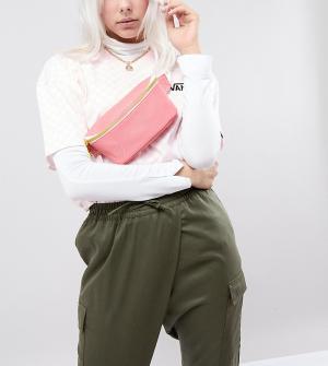Mi-Pac Эксклюзивная розовая сумка-кошелек на пояс. Цвет: розовый
