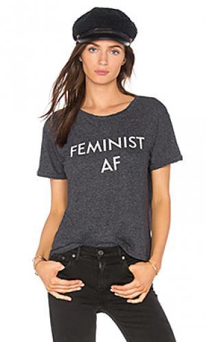 Футболка feminist af Private Party. Цвет: уголь