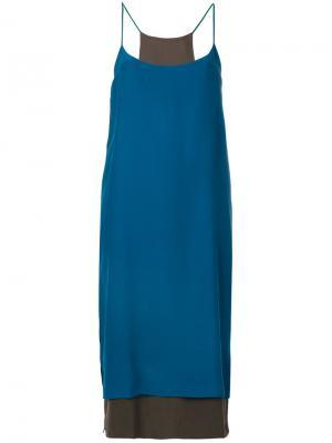 Платье прямого кроя Antonia Zander. Цвет: синий