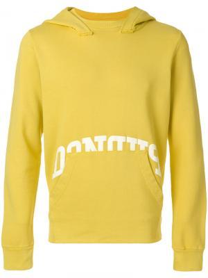 Толстовка с карманом спереди Dondup. Цвет: жёлтый и оранжевый