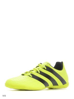 Бутсы ACE 16.4 IN  SYELLO/CBLACK/SILVMT Adidas. Цвет: желтый, черный
