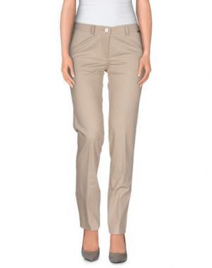 Повседневные брюки LUPATTELLI. Цвет: бежевый