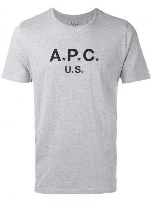 Logo T-shirt A.P.C.. Цвет: серый