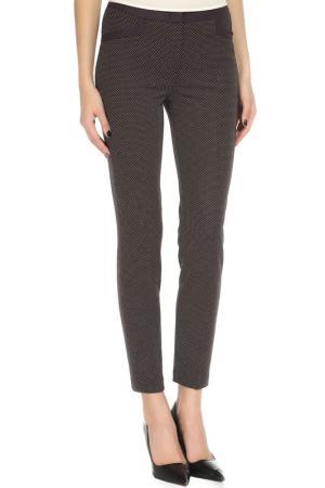 Зауженные брюки с застежкой на молнию YARMINA. Цвет: коричневый