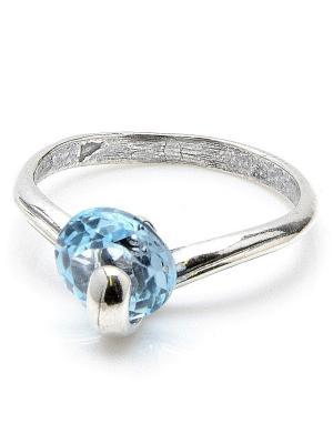 Кольцо Вега топаз голубой Колечки. Цвет: голубой