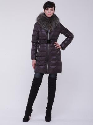 Стеганое пальто CATTAIL WILLOW. Цвет: темно-коричневый