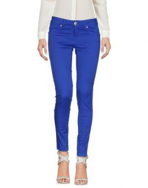 Повседневные брюки FLY GIRL. Цвет: ярко-синий
