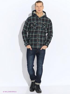 Куртка Oodji. Цвет: темно-зеленый