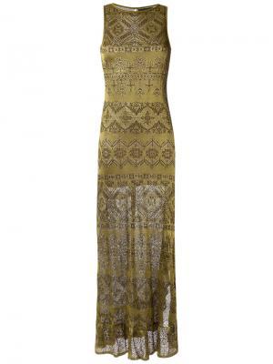 Knit long dress Cecilia Prado. Цвет: металлический