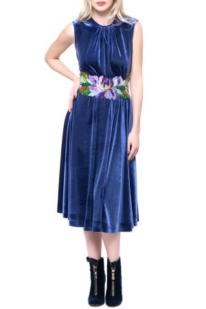 Яркое повседневное платье Yukostyle. Цвет: сиреневый
