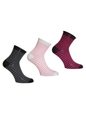 Носки 3 пары Master Socks. Цвет: черный, сливовый, белый