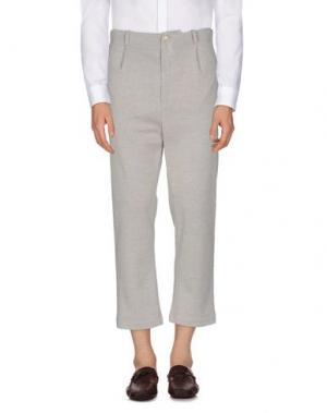 Повседневные брюки BERNA. Цвет: светло-серый