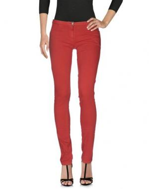 Джинсовые брюки ALYSI. Цвет: ржаво-коричневый