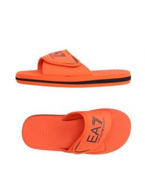 Домашние туфли EA7. Цвет: оранжевый