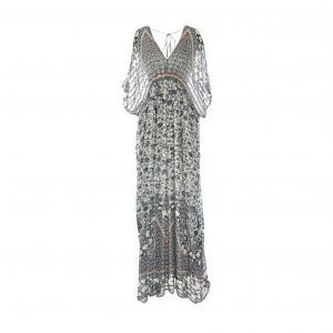 Платье длинное с рисунком RENE DERHY. Цвет: наб. рисунок синий