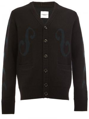 Embroidered button cardigan The Soloist. Цвет: чёрный