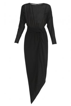 Платье из шелка и хлопка 178058 Cyrille Gassiline. Цвет: черный