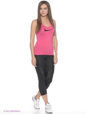 Майка спортивная NP CL TANK Nike. Цвет: розовый, черный