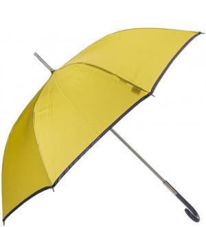Золотистый зонт-трость с контрастной каймой Zest. Цвет: золотистый
