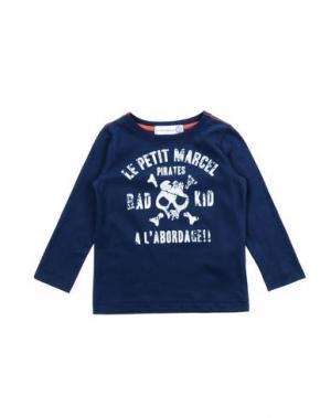 Футболка LE PETIT MARCEL. Цвет: темно-синий