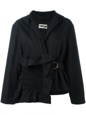 Асимметричная куртка Hache. Цвет: чёрный